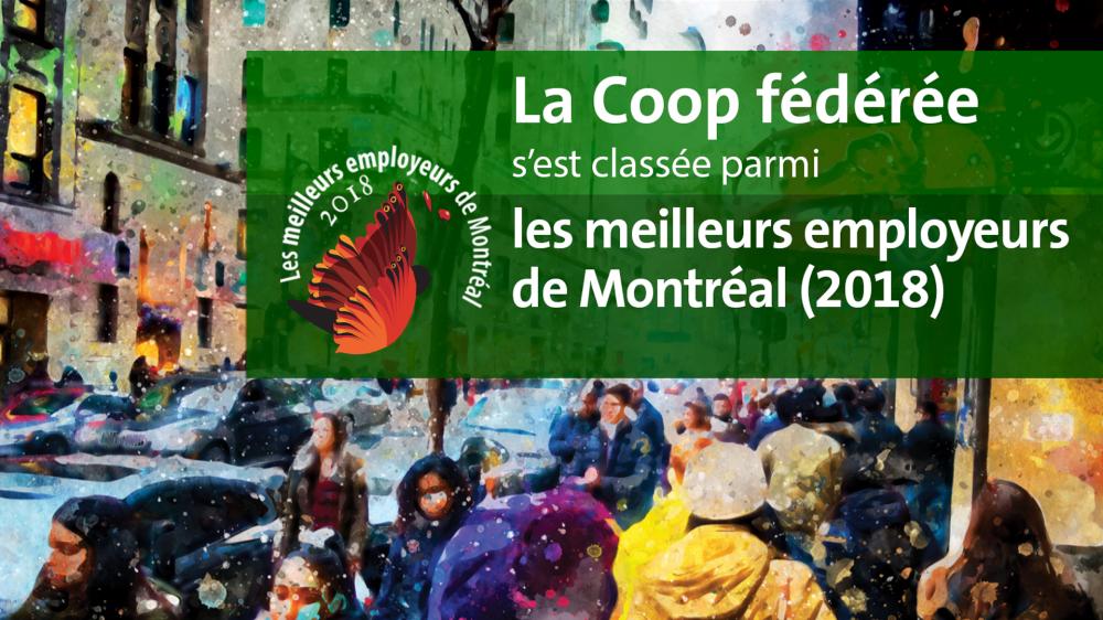 La Coop fédérée parmi les meilleurs employeurs de Montréal