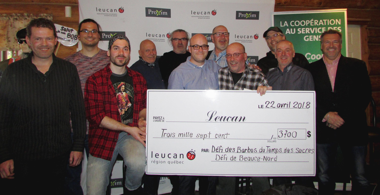 Seigneurie et Unicoop remettent 3700 $ à Leucan
