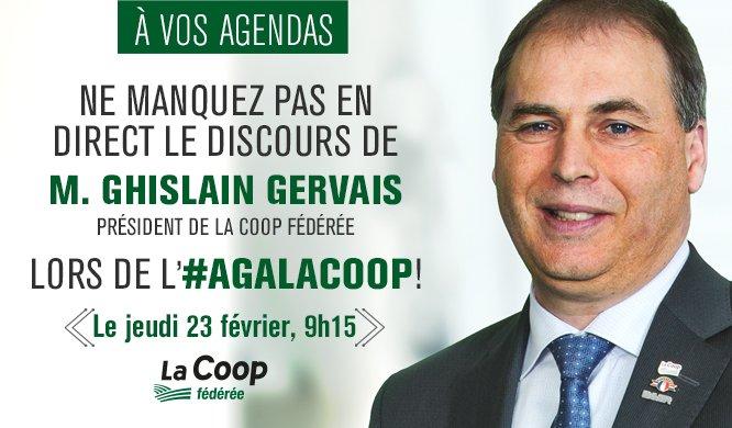 AGA La Coop fédérée: discours du président en webdiffusion